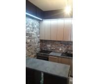 Кухня с фасадами МДФ Плёнка, размер 1600х2150х1800 мм.