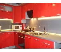 Кухня с фасадами МДФ Плёнка, размер 1400х3350 мм.