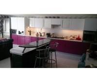 Кухня с фасадами МДФ Плёнка, размер 7250 мм.