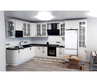 Кухня с фасадами МДФ Плёнка, размер 2300*3880 мм.
