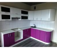 Кухня с фасадами МДФ Плёнка, размер 2960х2000 мм.