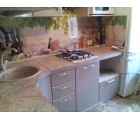 Кухня с фасадами МДФ Плёнка, размер 1660х3060 мм.