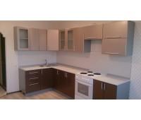 Кухня с фасадами МДФ Плёнка, размер 1600х3200 мм.