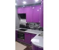 Кухня с фасадами МДФ Плёнка, размер 2200х1600 мм.