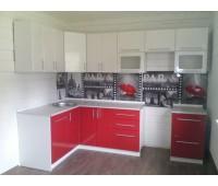 Кухня с фасадами МДФ Плёнка, размер 1450х2600 мм.