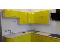 Кухня с фасадами МДФ Плёнка, размер 2050х3600 мм.