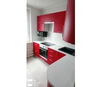 Кухня с фасадами МДФ Эмаль 4030