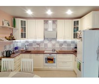Кухня с фасадами МДФ Эмаль 4044