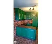 Кухня с фасадами МДФ Эмаль 8044