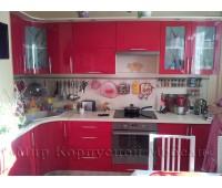 Кухня на заказ с фасадами МДФ Эмаль 3038