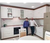 Кухня с фасадами МДФ Эмаль , размер 3560х1860 мм